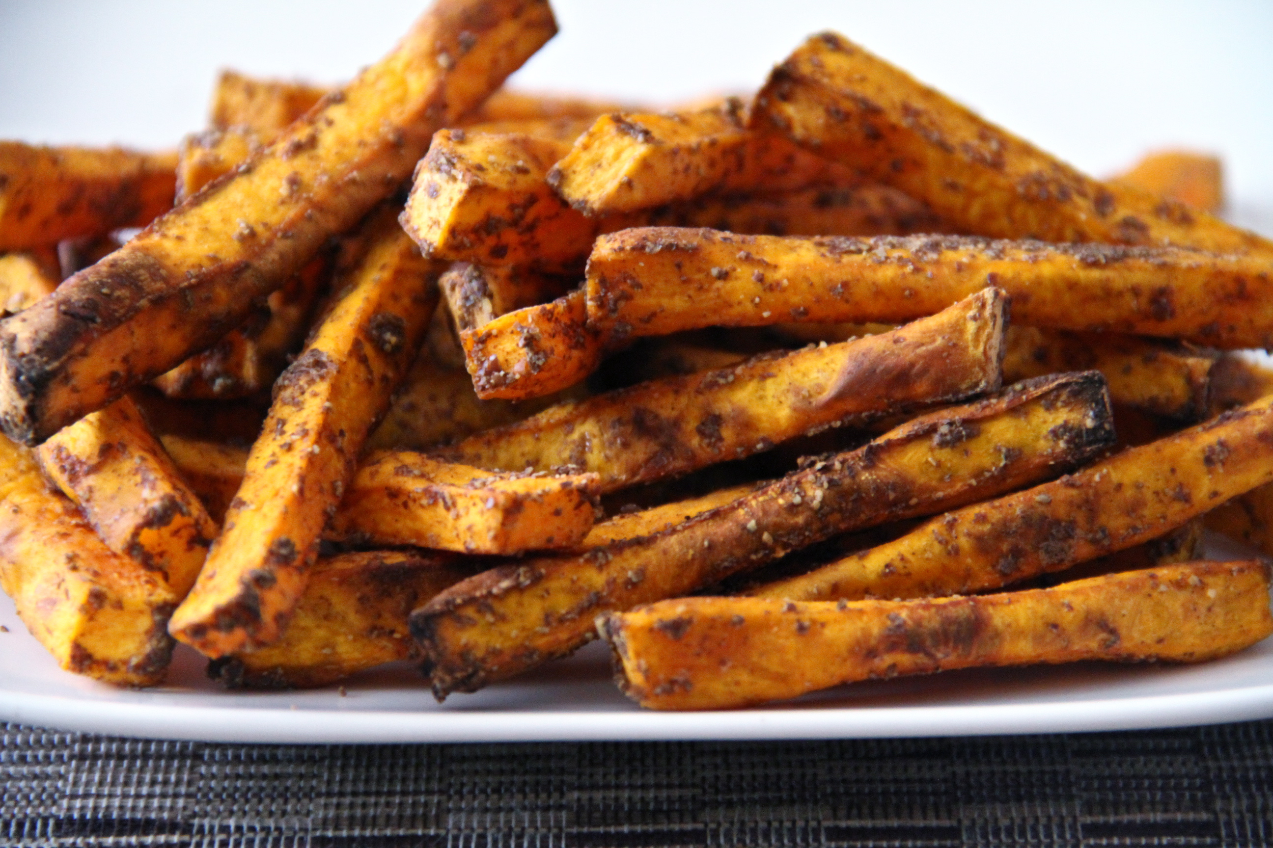 Maple-Flax Sweet Potato Fries