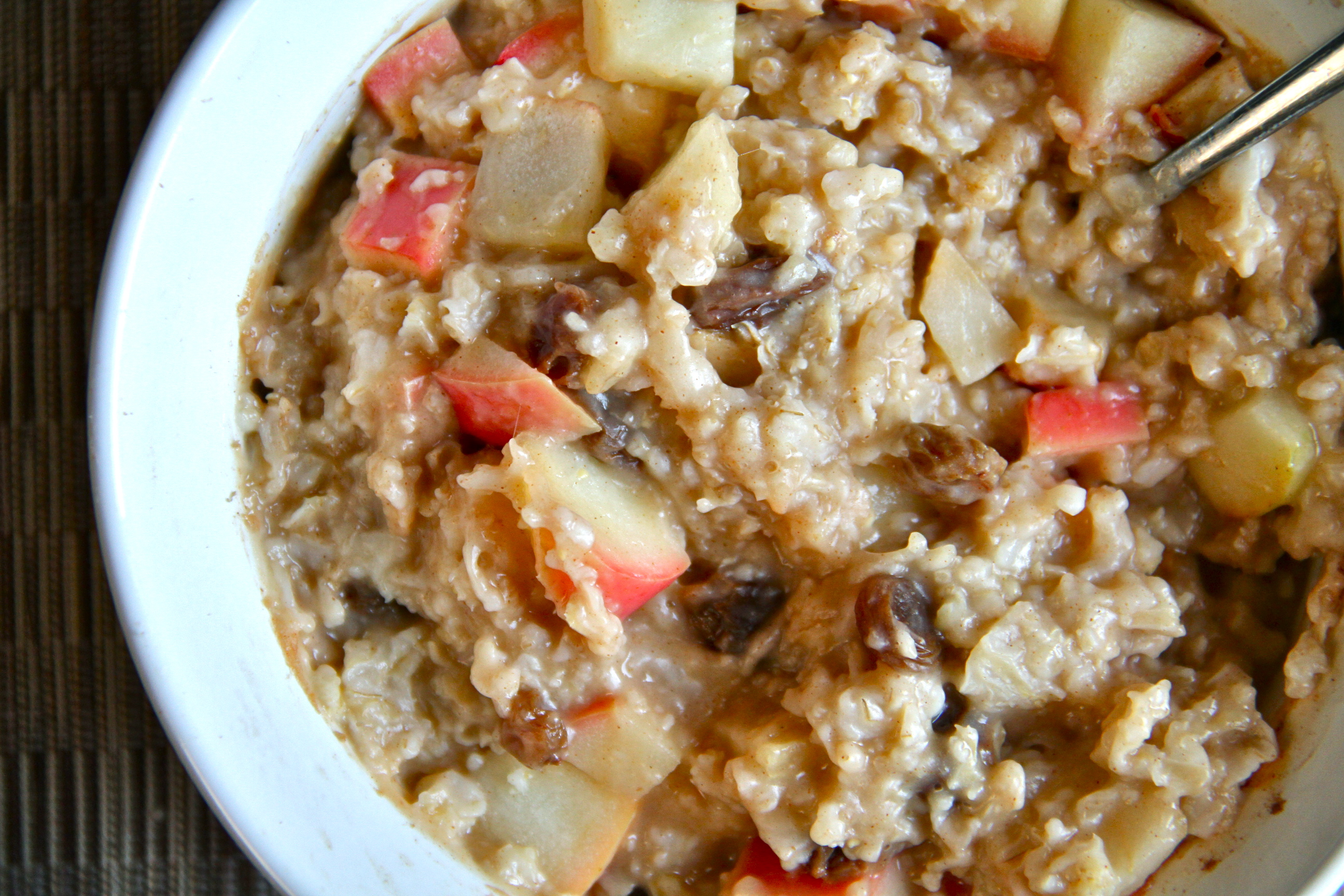 oat oatmeal fluffy apple cinnamon egg vegan baked apple cinnamon apple ...