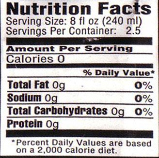recipe nutritional info .