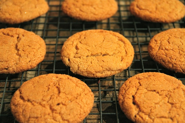 Baking Gingersnaps