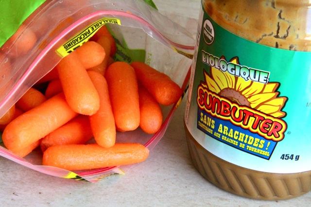 Carrots and Sunbutter