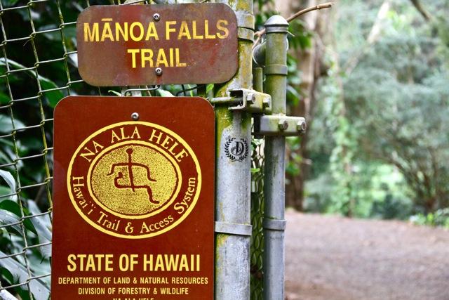 Manoa Falls Trail Sign