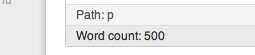 500 Word Count