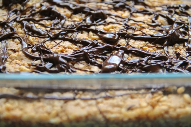 Chocolate Drizzled Crispies
