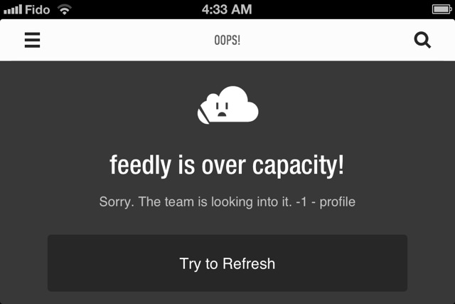 Sad Feedly