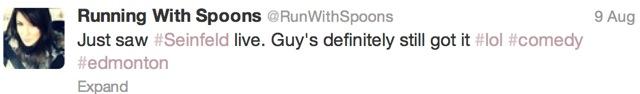 Seinfeld Tweet