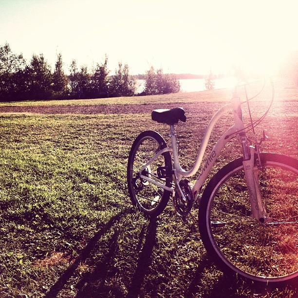 Biking at the Lake