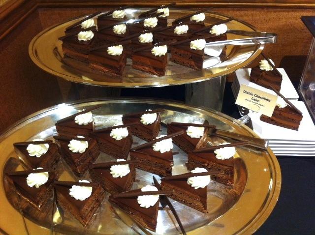 double diablo cake with raisins whiskey almonds