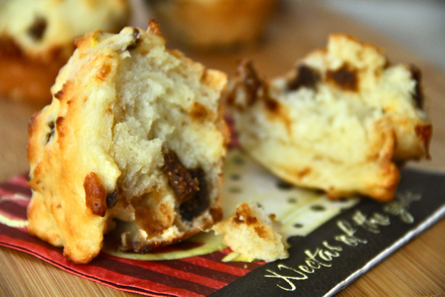 Doughy Fig and Goat Cheese Muffin