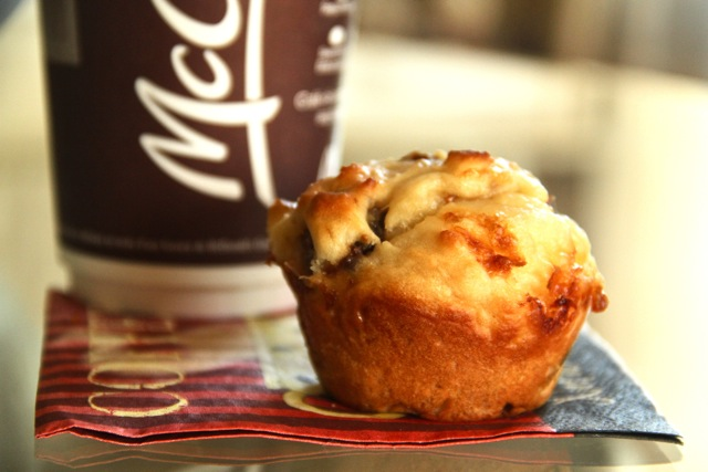 Fig Muffin and Coffee
