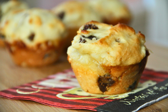 Fig and Goat Cheese Muffins