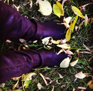 Boots in the Leaves