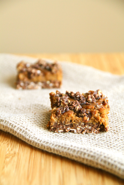 Pumpkin Pie Oat Bars