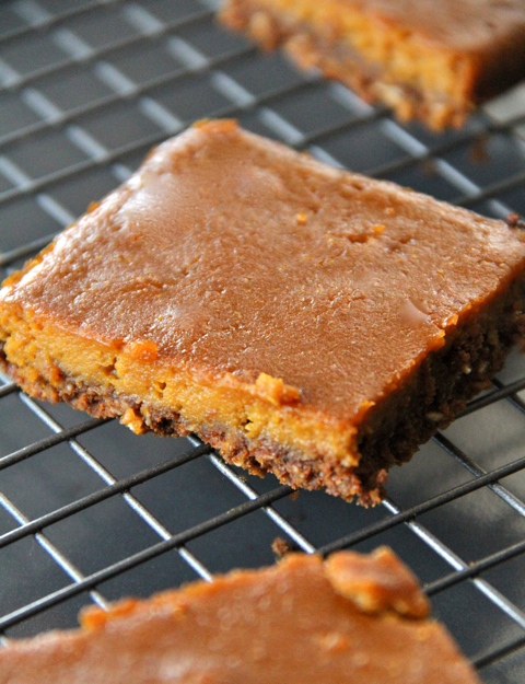 Bare Gingerbread Pumpkin Bars