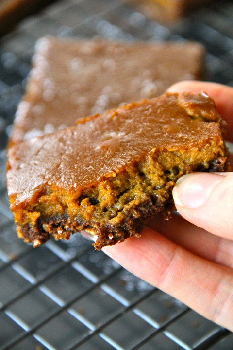 Gooey Gingerbread Pumpkin Bar