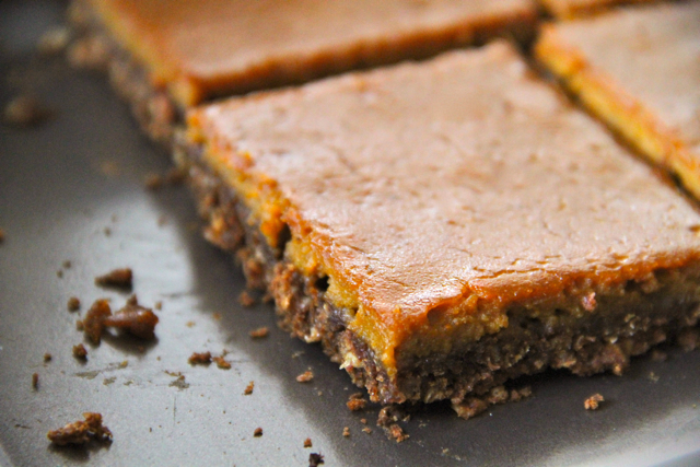 Panned Gingerbread Pumpkin Bars