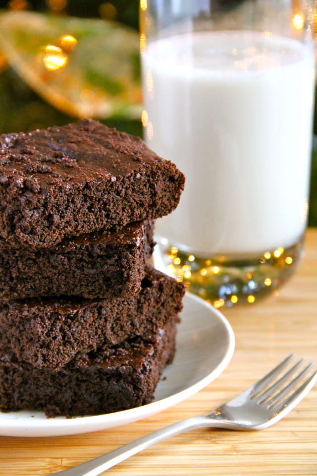 Lightened Up Chocolate Gingerbread Brownies Running