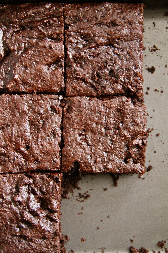 Gingerbread Brownies in Pan