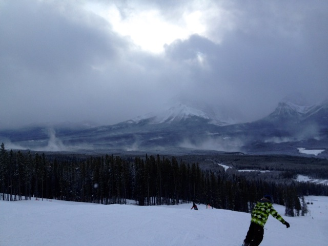 Cloudy Canadian Rockies