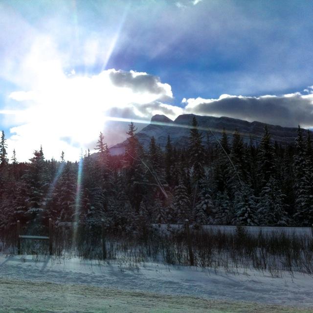 Sun Over Mountains