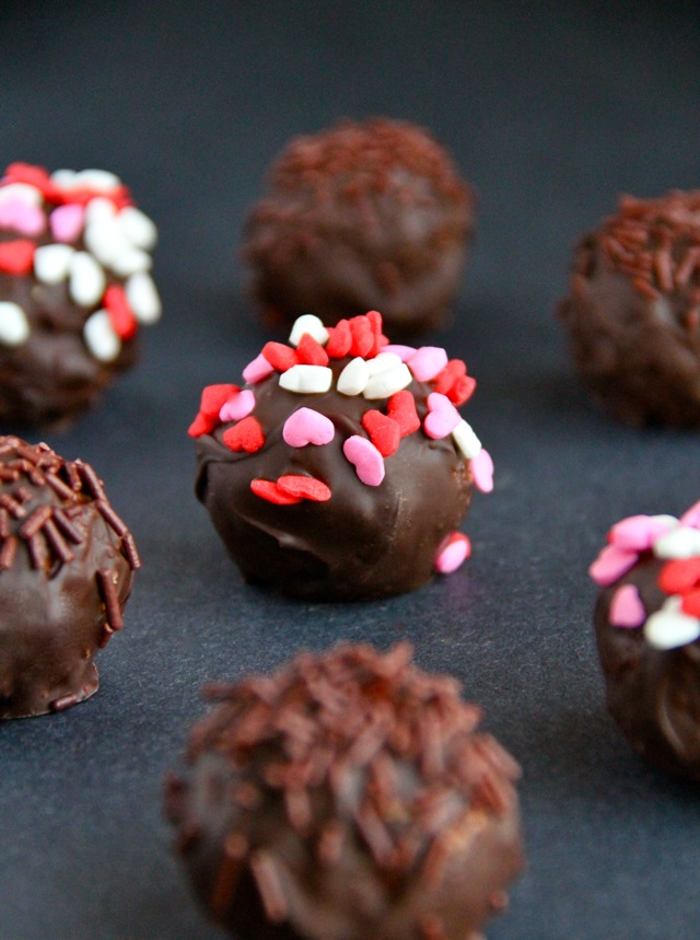 Almond Butter and Pretzel Truffles -- Sweet, salty, crunchy, and smooth. Satisfy all your cravings in a single bite with one of these truffles.
