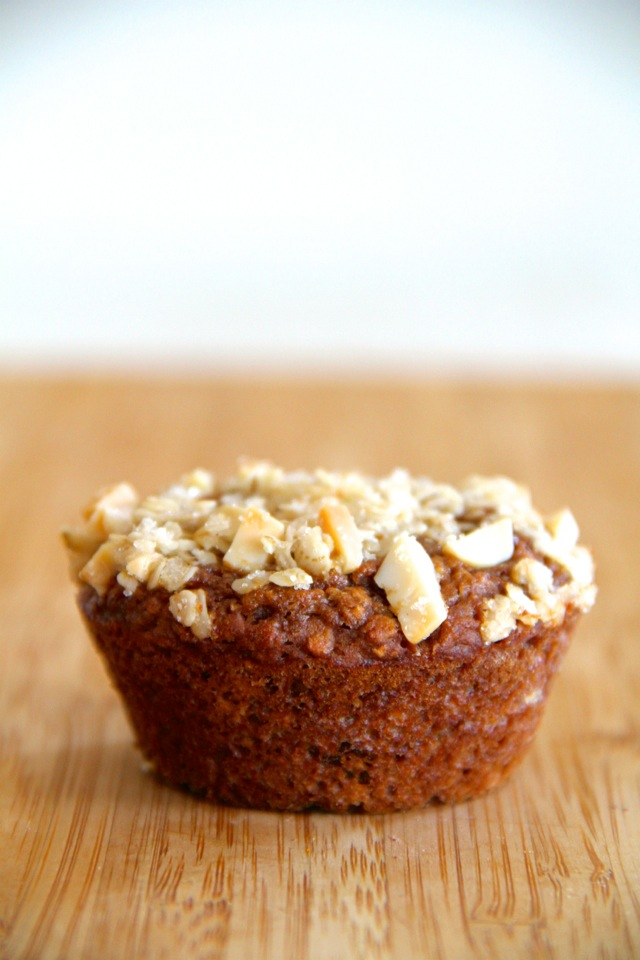 Applesauce Oatmeal Muffins | runningwithspoons.com