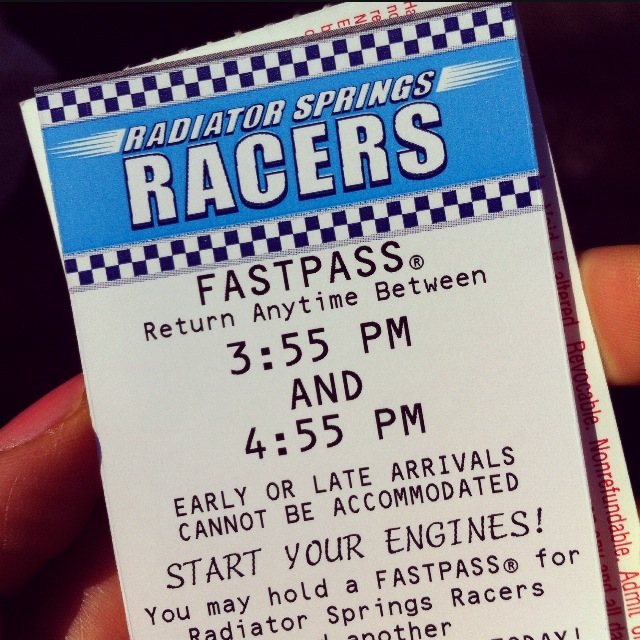 Cars Fastpass