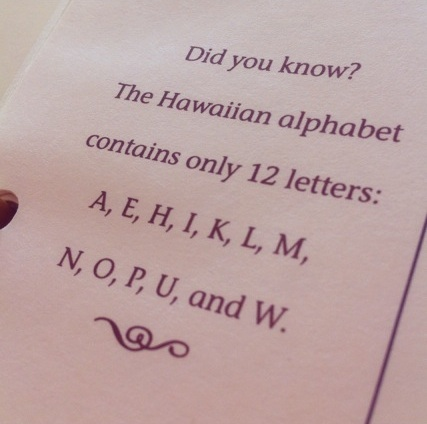 Hawaiian Alphabet