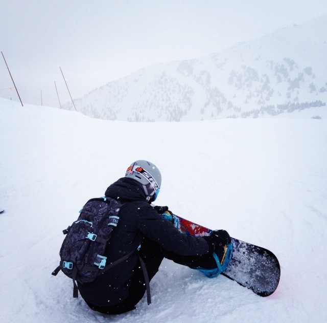 Snowboard Strapping In