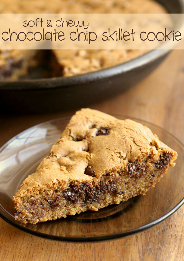 Soft and Chewy Chocolate Chip Skillet Cookie | running ...