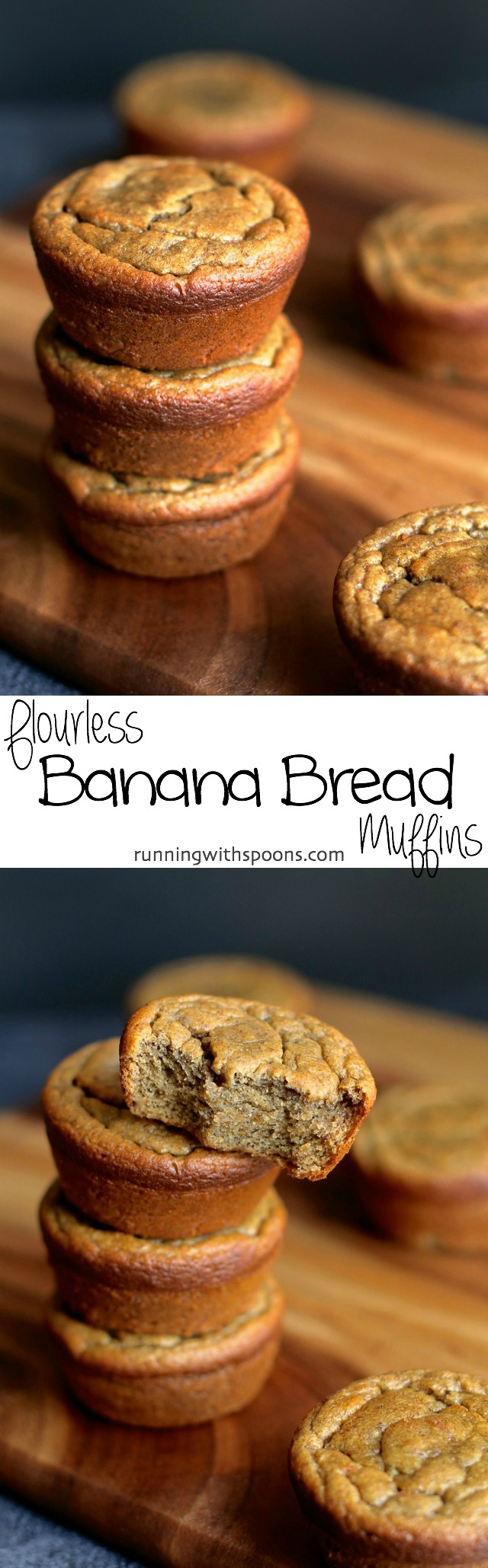 Flourless Banana Bread Muffins Long