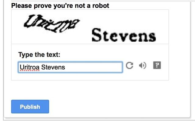 Annoying Word Verification