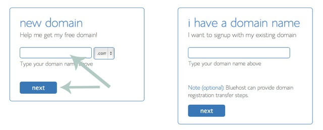 Get A Domain Name With Bluehost