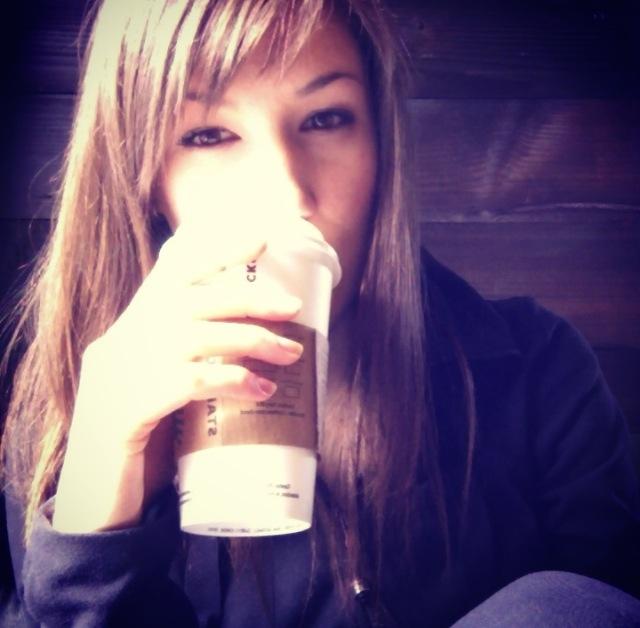 Sneaky Coffee Selfie