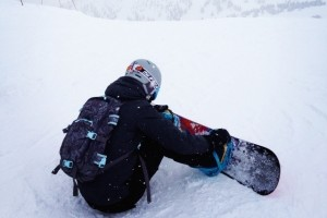 Snowboarding Strapping In