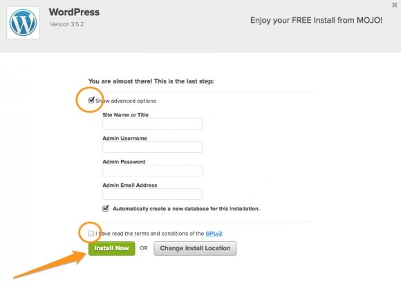 Wordpress Advanced Options