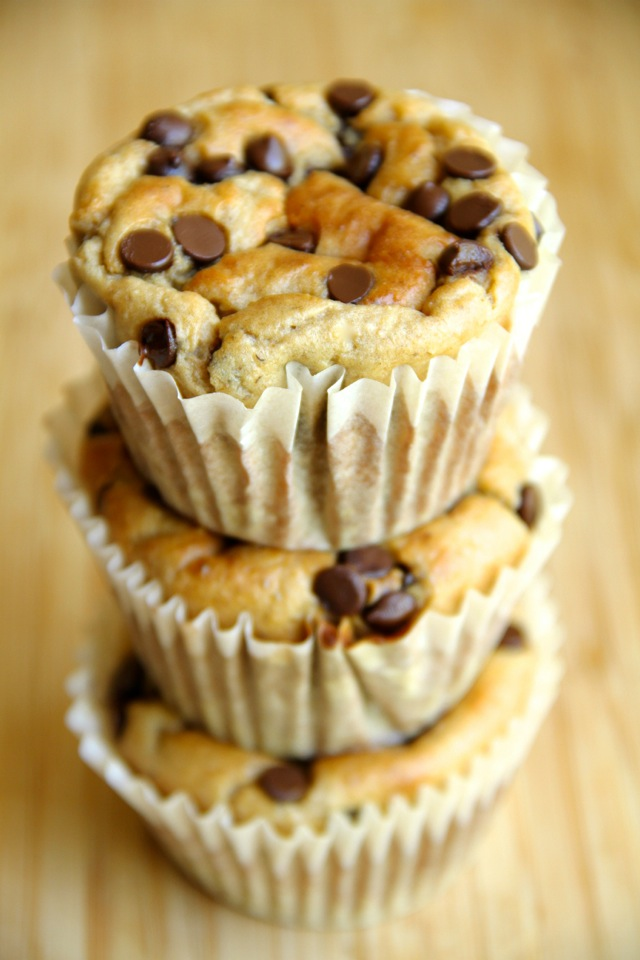 Banana Oat Greek Yogurt Muffins