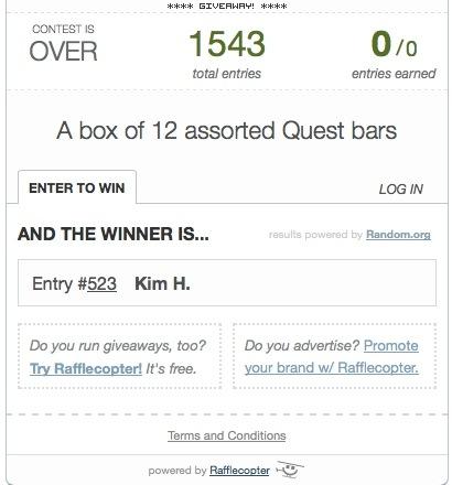 Quest Bar Winner