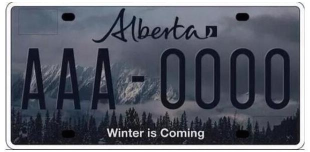Alberta Winter Plate