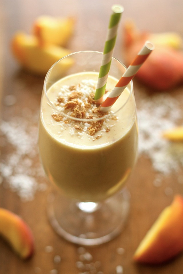 Peaches 'n' Cream Protein Smoothie