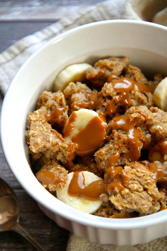 Banana Bread Breakfast Bake || runningwithspoons.com