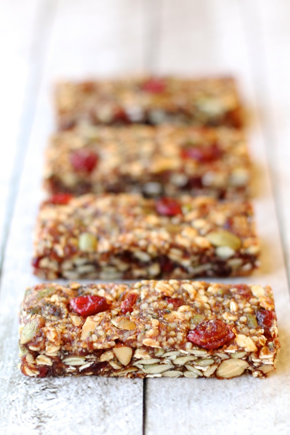 Fruit and Seed Granola Bars || runningwithspoons.com || #vegan # ...