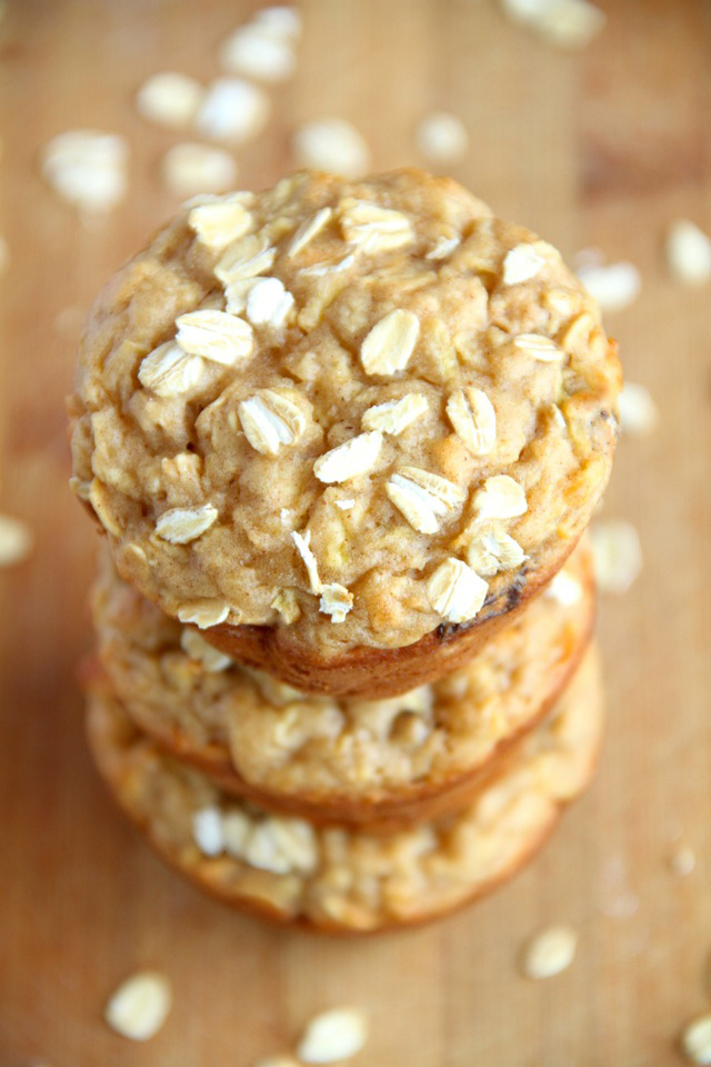 Apple Oat Greek Yogurt Muffins