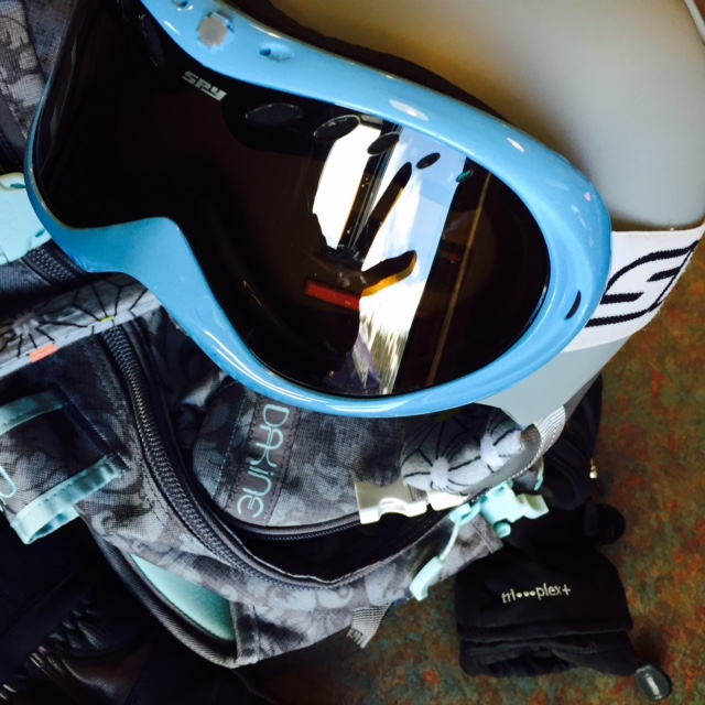 Boarding Helmet and Goggles