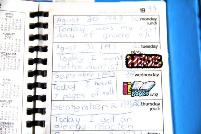 Old Diary Entries