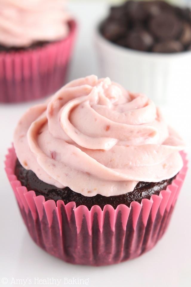 Dark Chocolate Raspberry Cupcakes