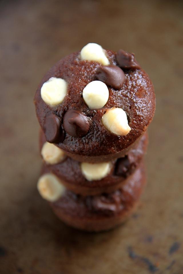 Double Chocolate Raspberry Brownie Bites