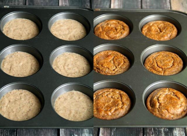 Vegan Flourless Banana Bread Muffins -- gluten-free, egg-free, refined ...