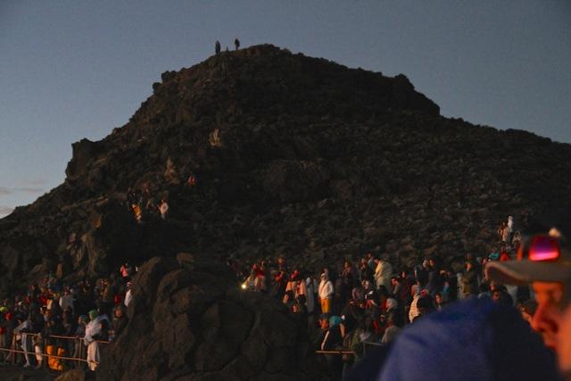 Crowd at Haleakala