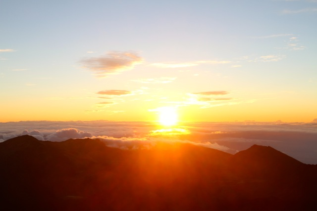 Sun Rose over the Crater